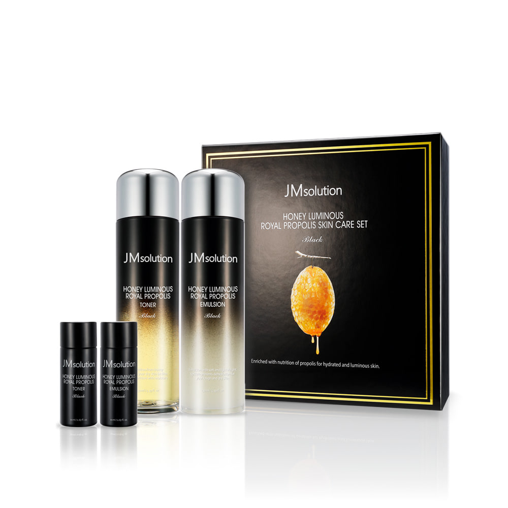 HONEY LUMINOUS ROYAL PROPOLIS SKIN CARE SET Black